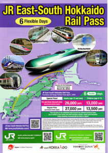pamphlet of JR East-South Hokkaido Rail Pass
