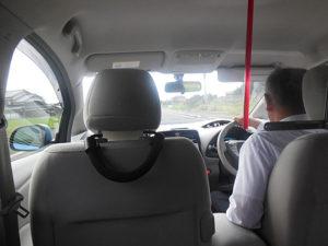 EVタクシーの車内