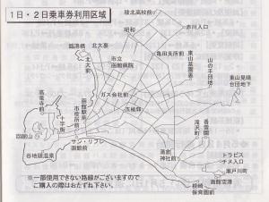 函館バスの利用範囲