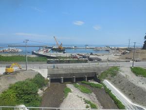 三陸鉄道北リアス線田老駅付近