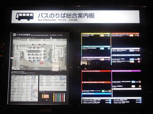 京都駅前ののりば総合案合図