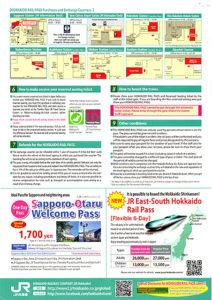 pamphlet of Hokkaido Rail Pass