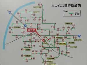 さつバスの路線図