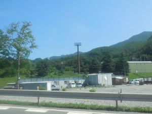 山田仮設診療所(山田線振替バスの車内から)